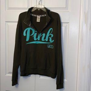 Women's size L PINK 1/4 zip sweatshirt!